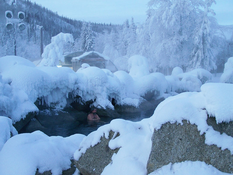 Alaska Aurora Winter Train with Chena Hot Springs