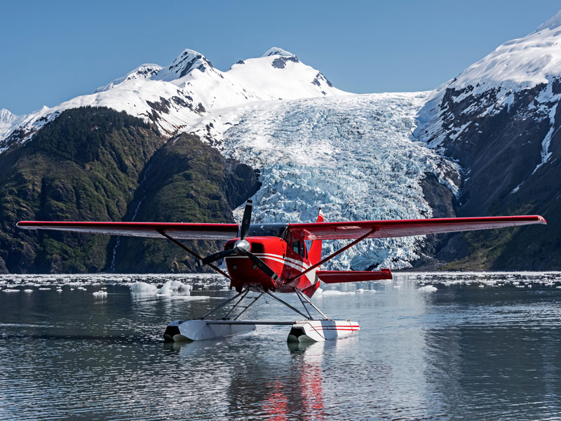 Alaska Luxury Wilderness Lodges | Private Plane & pilot for the Day in Prince William Sound