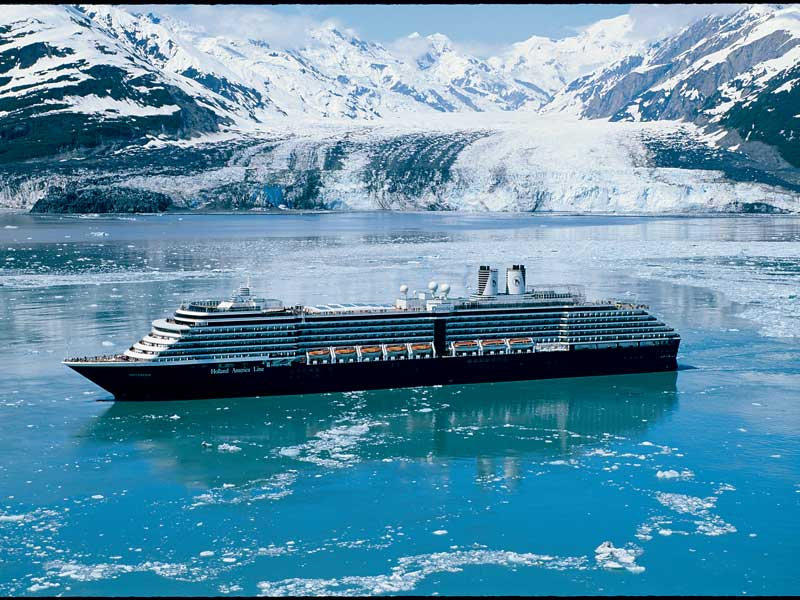 Alaska Cruise with Canadian Rockies Train Tour | Holland America MS Noordam in Glacier Bay